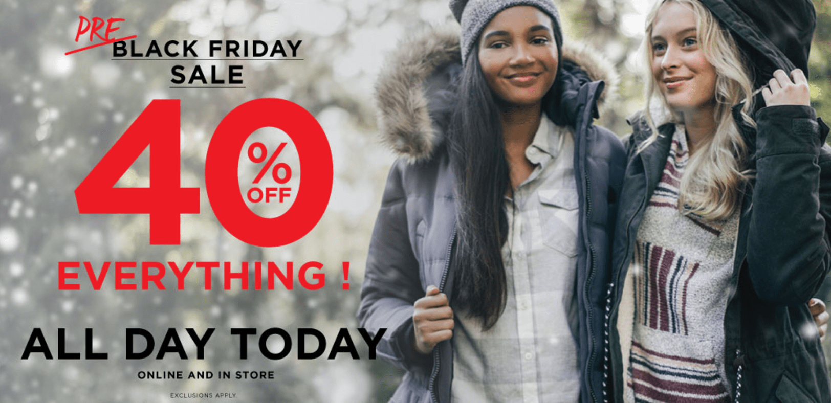Bluenotes Canada Pre-Black Friday Sale: Today Only Save 40% Off!