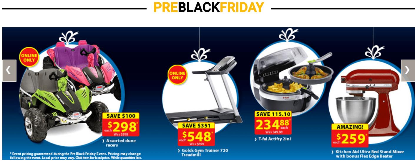 Walmart Canada Pre Black Friday Online Sale: November 17 – 23
