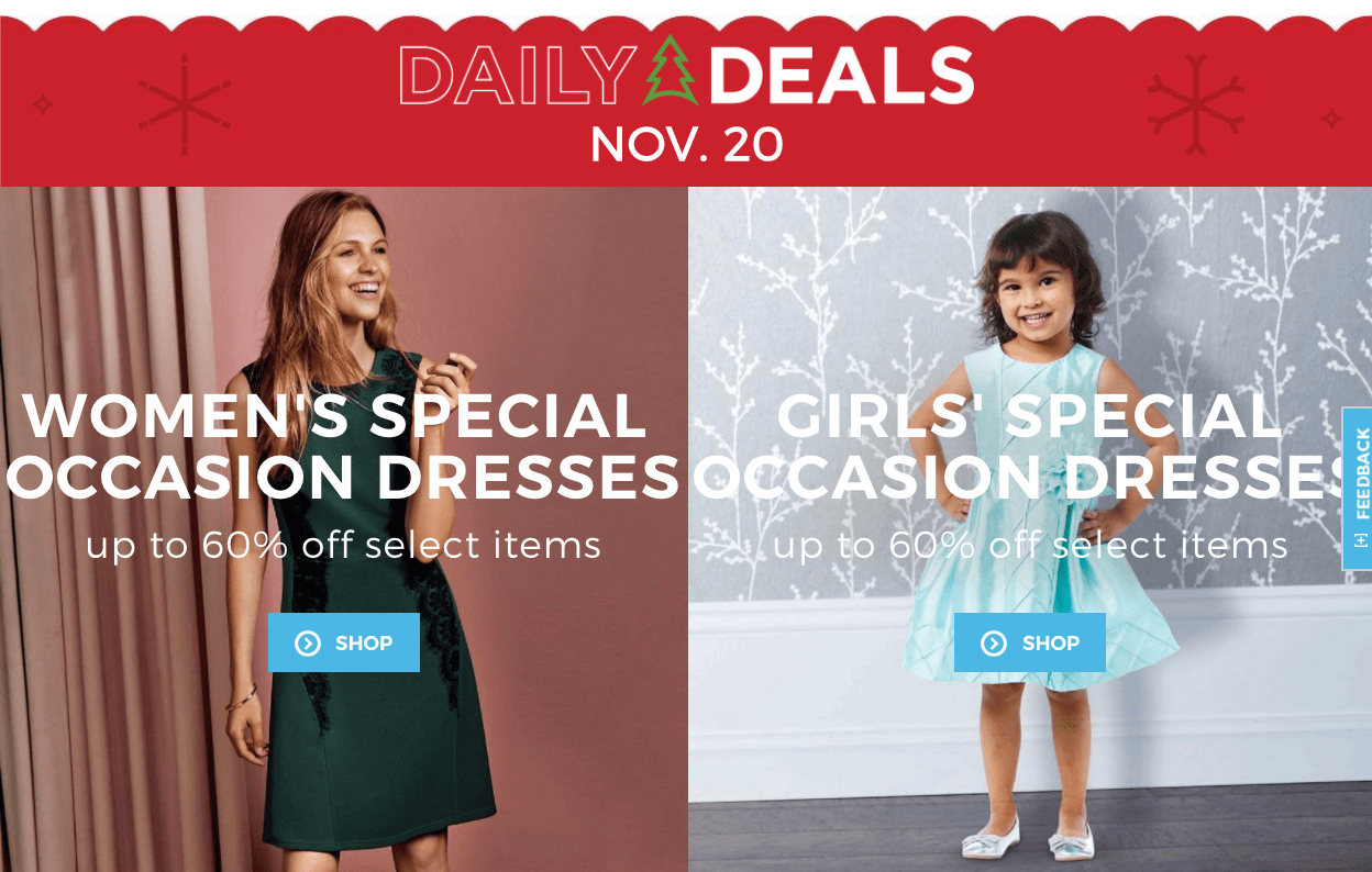 Sears Canada Daily Deals: Save up to 60% Off Women's & Girls' Dresses!