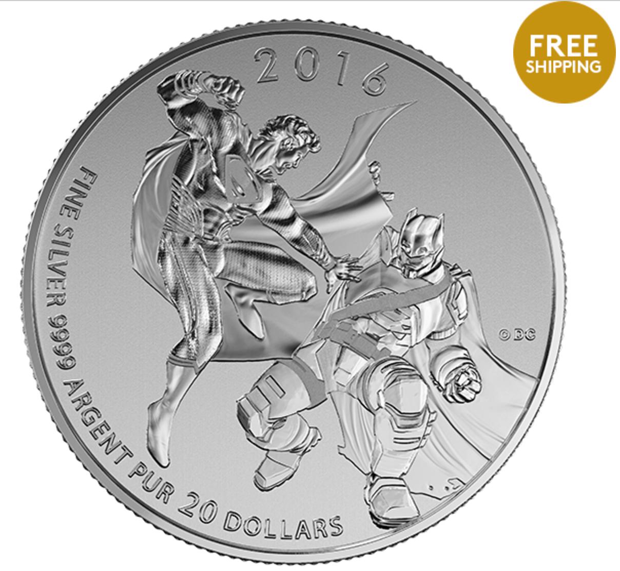 Royal Canadian Mint Deals: $20 for $20 Fine Silver Superman & Batman vs Superman Coins + FREE Shipping!