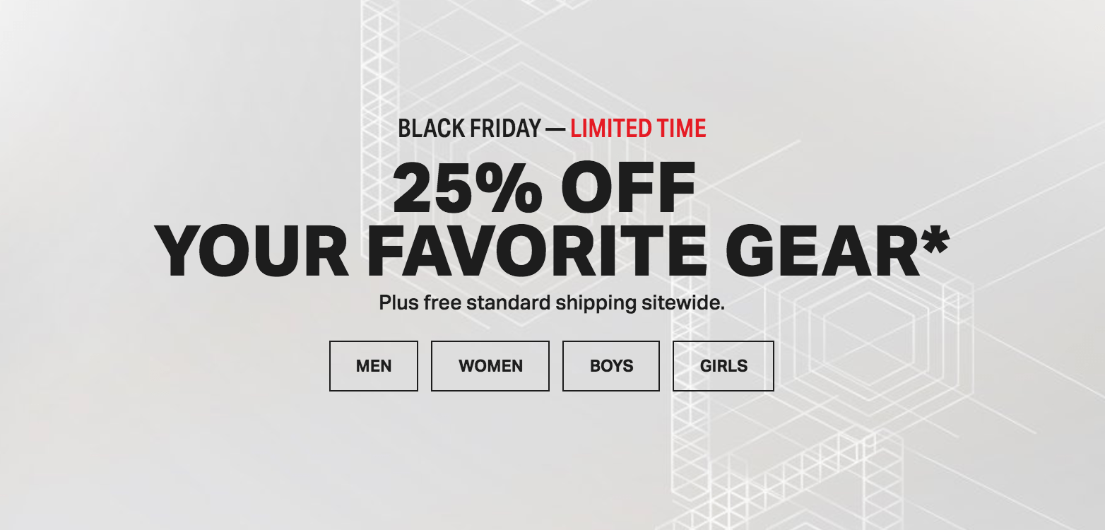 Under Armour Black Friday Sale: Save 25% Off + FREE Shipping on All Orders!