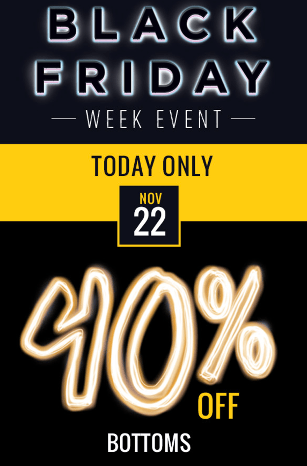 Penningtons Canada Black Friday 2016 Week: Save 40% Off Bottoms, Today Only