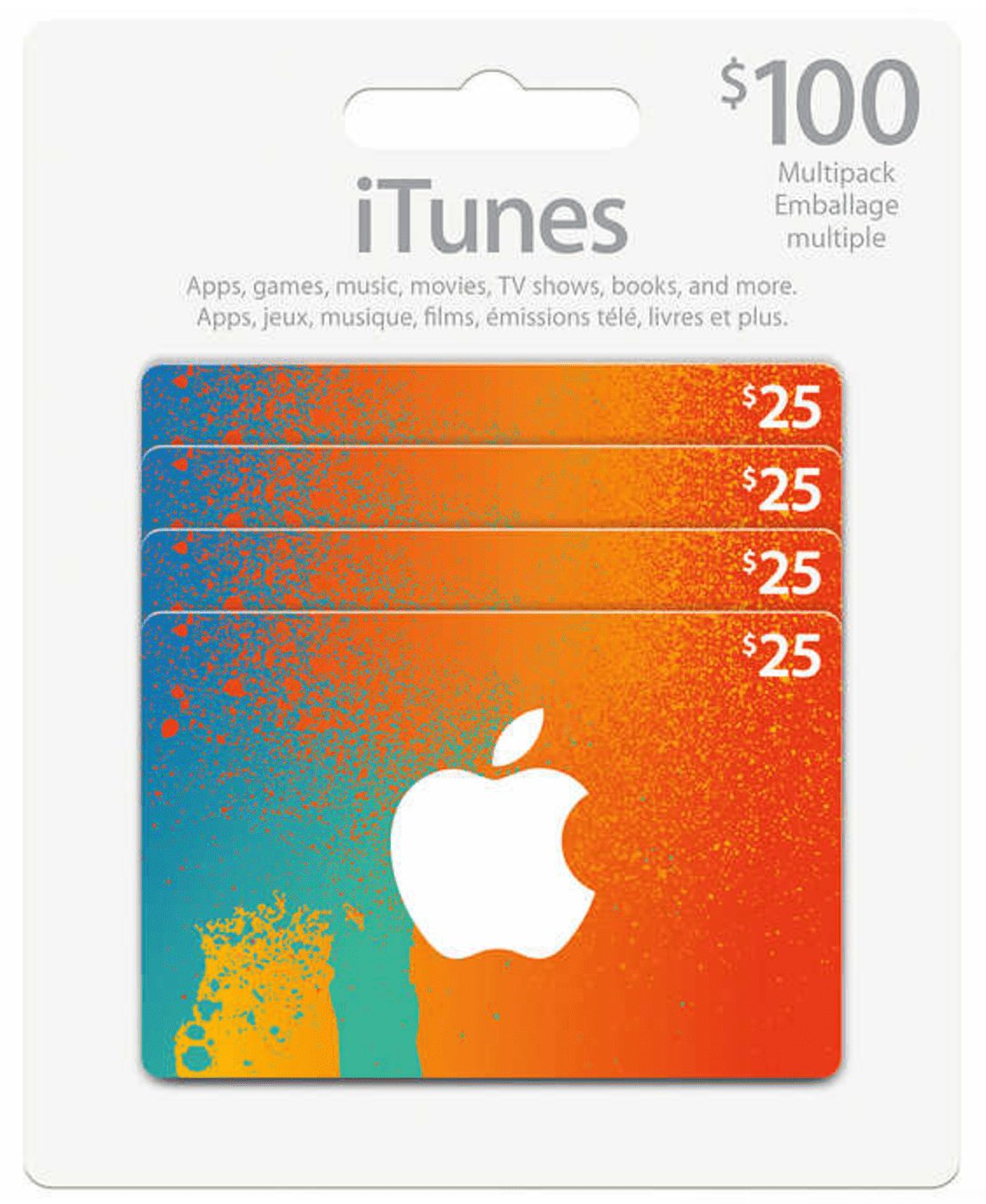 Costco Canada Black Friday Deal: $83.99 for $100 Multipack iTunes Cards with Free Shipping