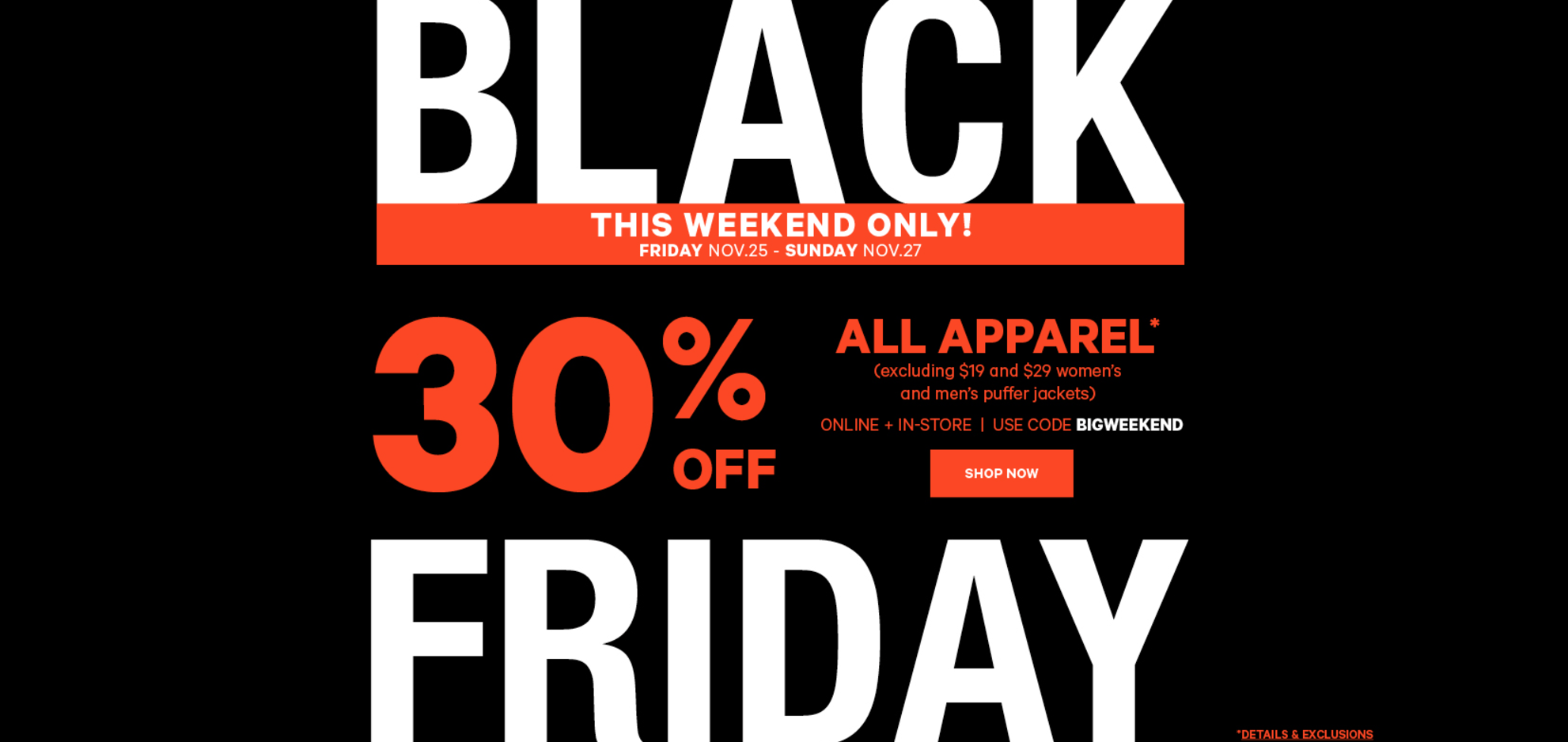 Joe Fresh Canada Black Friday Weekend Sale: Save 30% Off All Apparel + 50% Off Puffer Jackets!