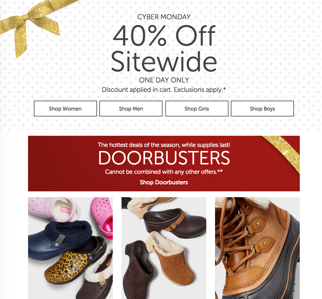 Crocs Canada Cyber Monday 2016 Sale Save 40% SiteWide Today