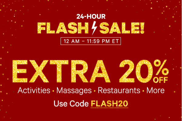 Groupon Canada Flash Sale: Save An  Extra 20% Off Local Deals with Promo Code Today!