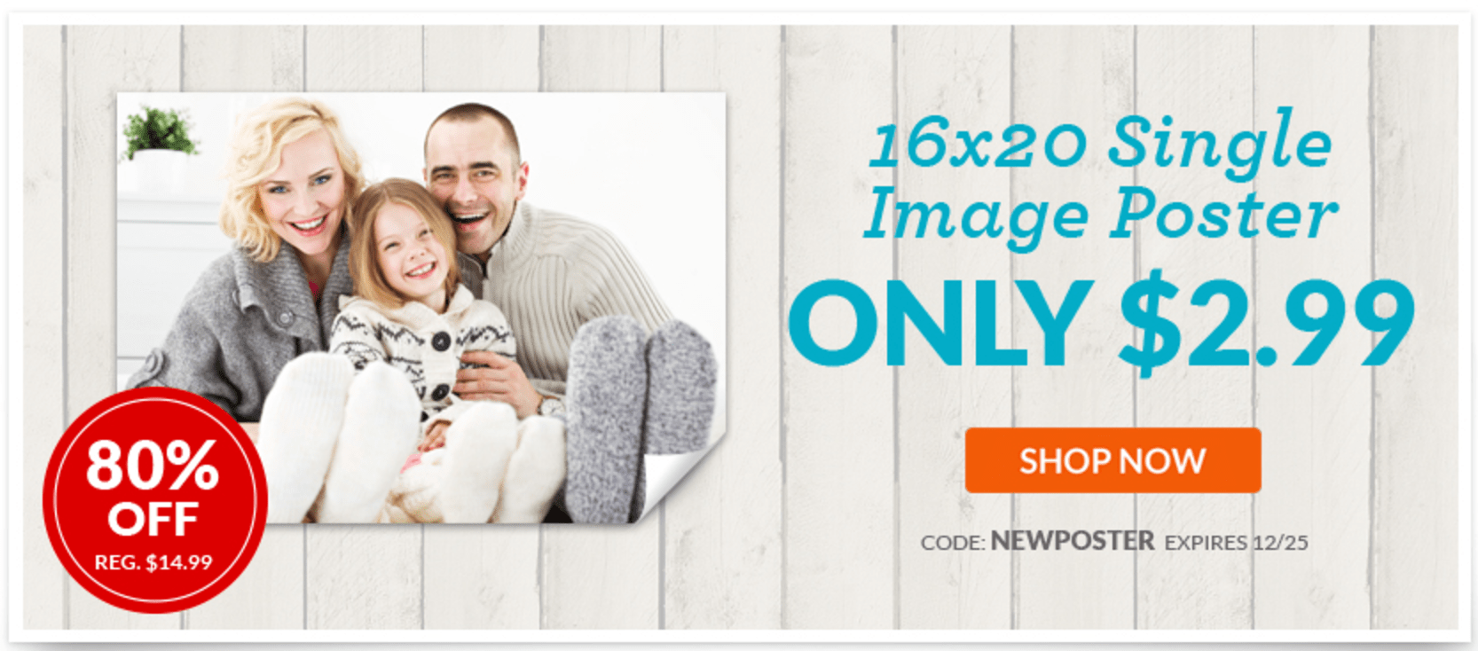 York Photo Canada Deals: Save 80% Off Personalized Posters + 50% Off Customized Holiday Cards