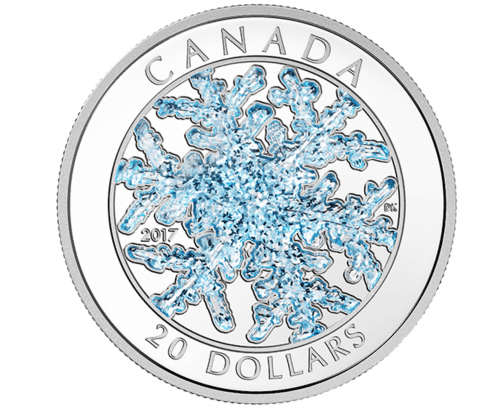 Royal Canadian Mint Deals: Snowflake Pure Silver Coloured 2017 Coin + $25 for $25 Fine Silver True North Coin