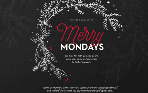 Starbucks Canada Merry Mondays Promotion is Back!