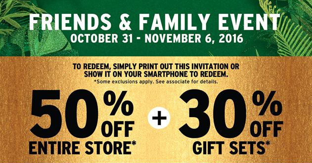 The Body Shop Canada Friends & Family Sale – Save Up To 50% In-Store