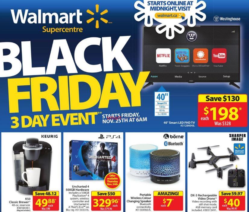 Walmart Canada Black Friday 2016 Flyer Sneak Peek!!