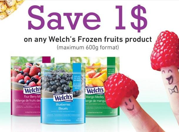 Canadian Coupons: Save $1 On Welch's Frozen Fruit Products *Printable Coupon*