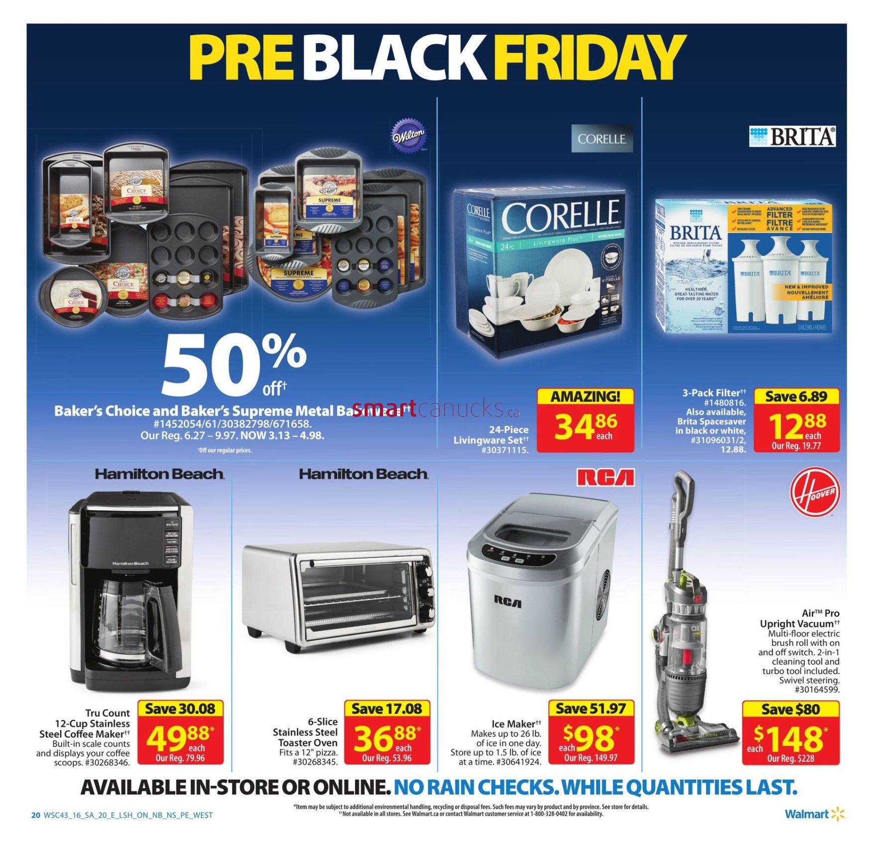 Walmart Canada Pre-Black Friday 2016 Flyer Sneak Peek November 17th – 23rd