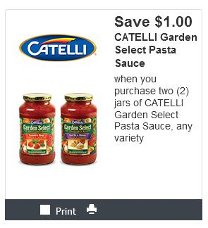 Kraft Canada Coupons: Save $1 When You Buy Two Catelli Pasta Sauce