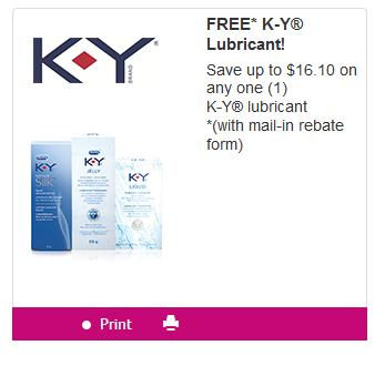 Canadian Mail In Rebates: Free K-Y Lubricant Through SmartSaver