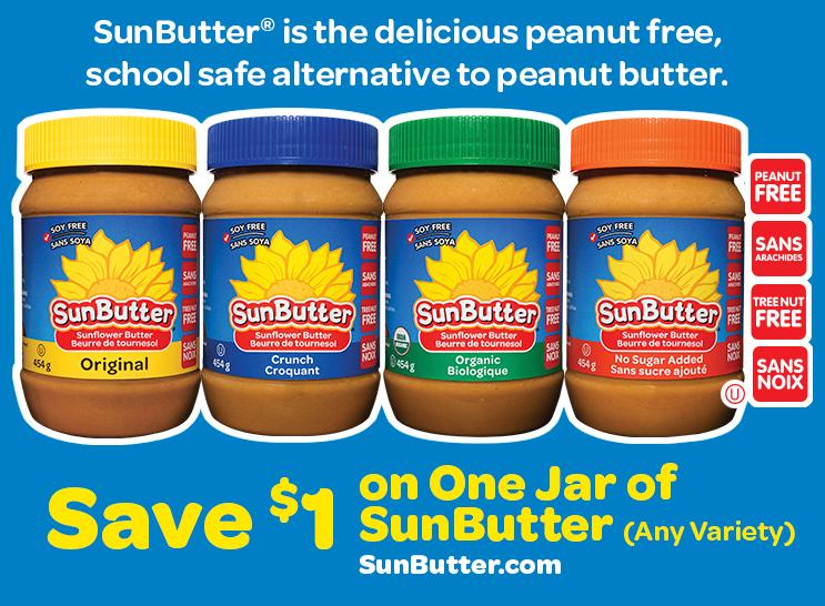 Walmart Canada Coupons: Save $1 On Sunbutter