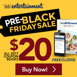 Entertainment Book Canada Pre-Black Friday Sale: ALL Books for $20 + FREE Shipping + Save 15% When You Buy 2!