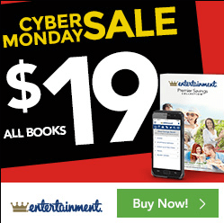 Entertainment Book Canada Cyber Monday Sale: All Books for Only $19 + Save 15% Off 2 or More + FREE Shipping