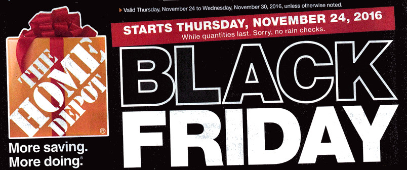 Home Depot Canada Black Friday Flyer 2016 *FULL*