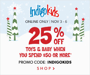 Indigo Canada Deal: Save 25% Off Toys and Baby Items