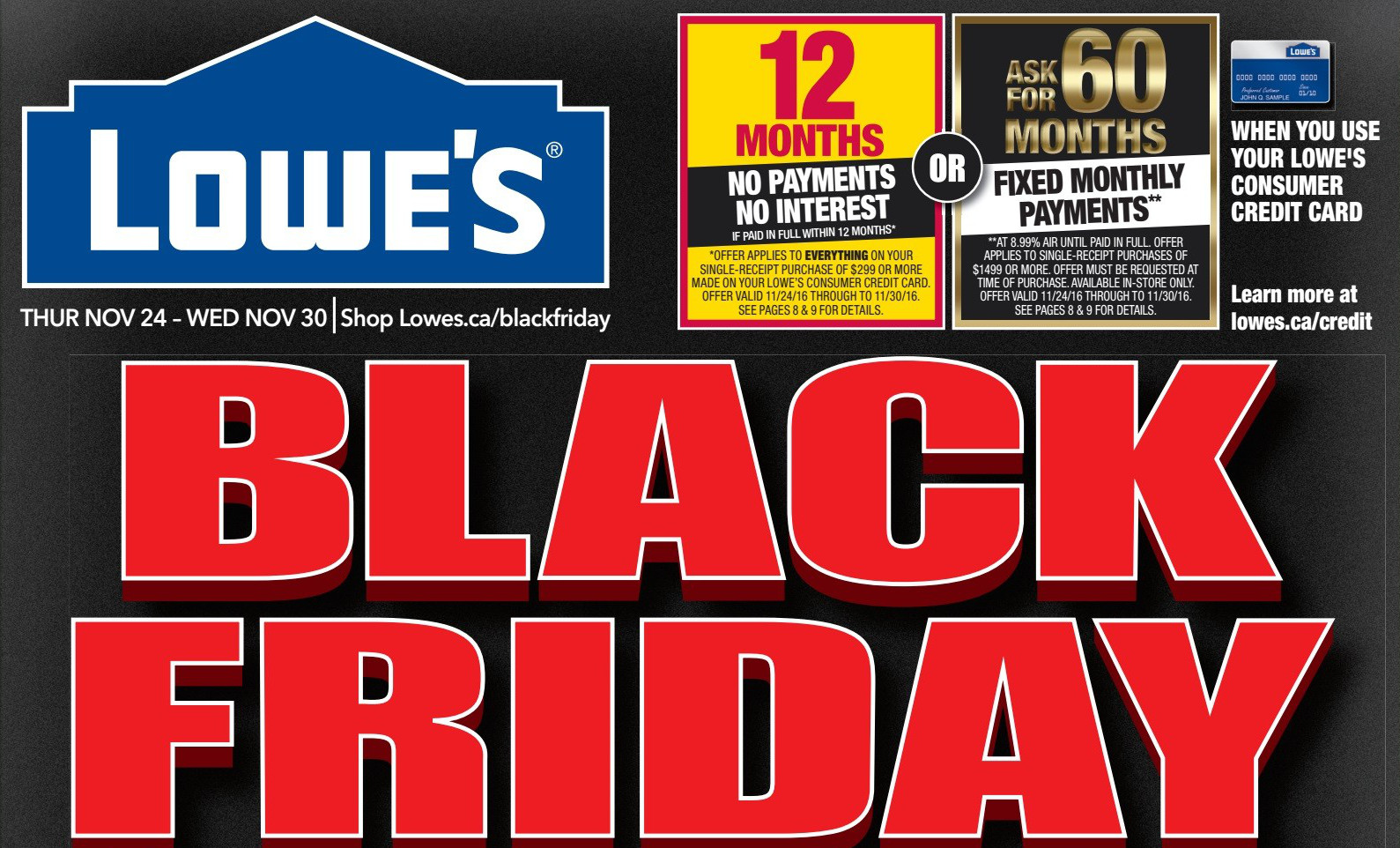 Lowe S Canada Black Friday Amp Cyber Monday Flyer Deals 2016
