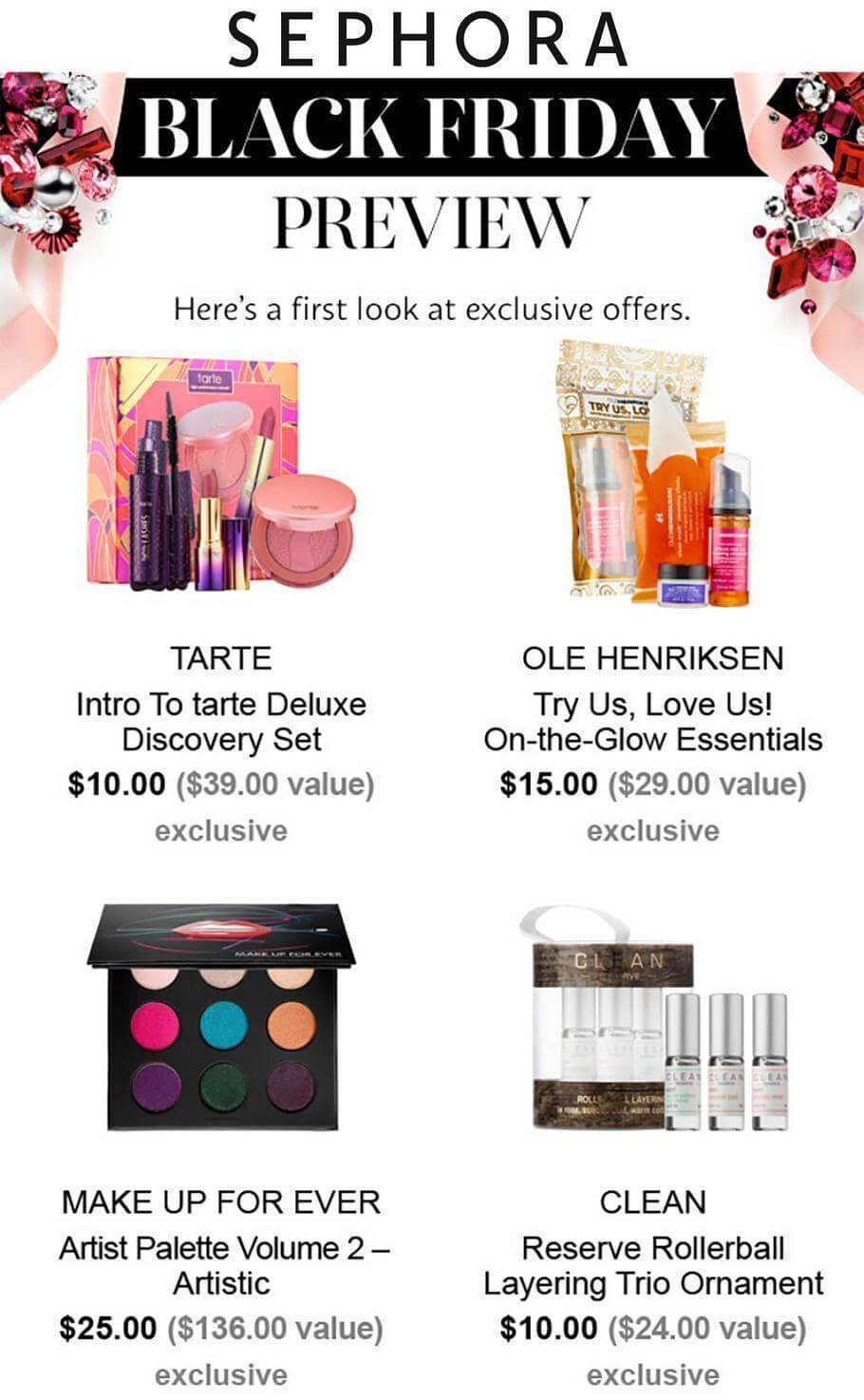 Sephora Black Friday deals, 2017