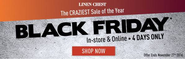 Linen Chest Canada Black Friday Offers: Save an Extra 30% Off Bedding + Extra 20% Off Everything on Sale!