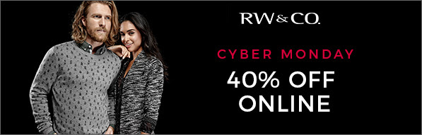 RW&CO. Canada Cyber Monday Deal: Save 40% Off Today Only