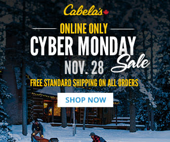 Cabela's Canada Cyber Monday Sale + FREE Shipping on ALL Orders!