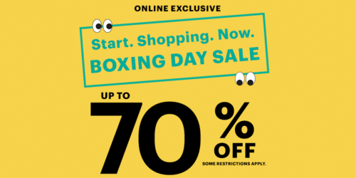 Ardene Canada Boxing Day Sale
