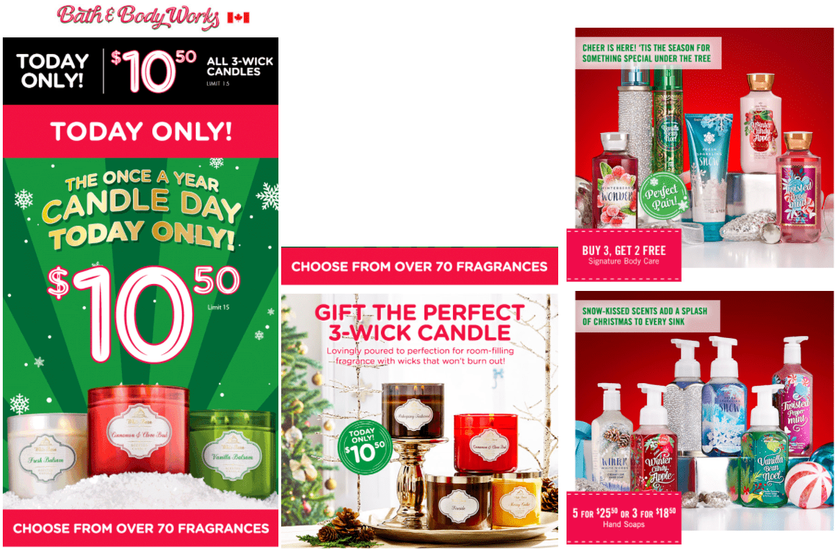 Bath Amp Body Works Canada Offers 3 Wick Candles For 10 50
