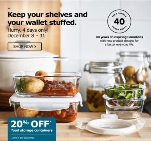 IKEA Canada Holiday Offers