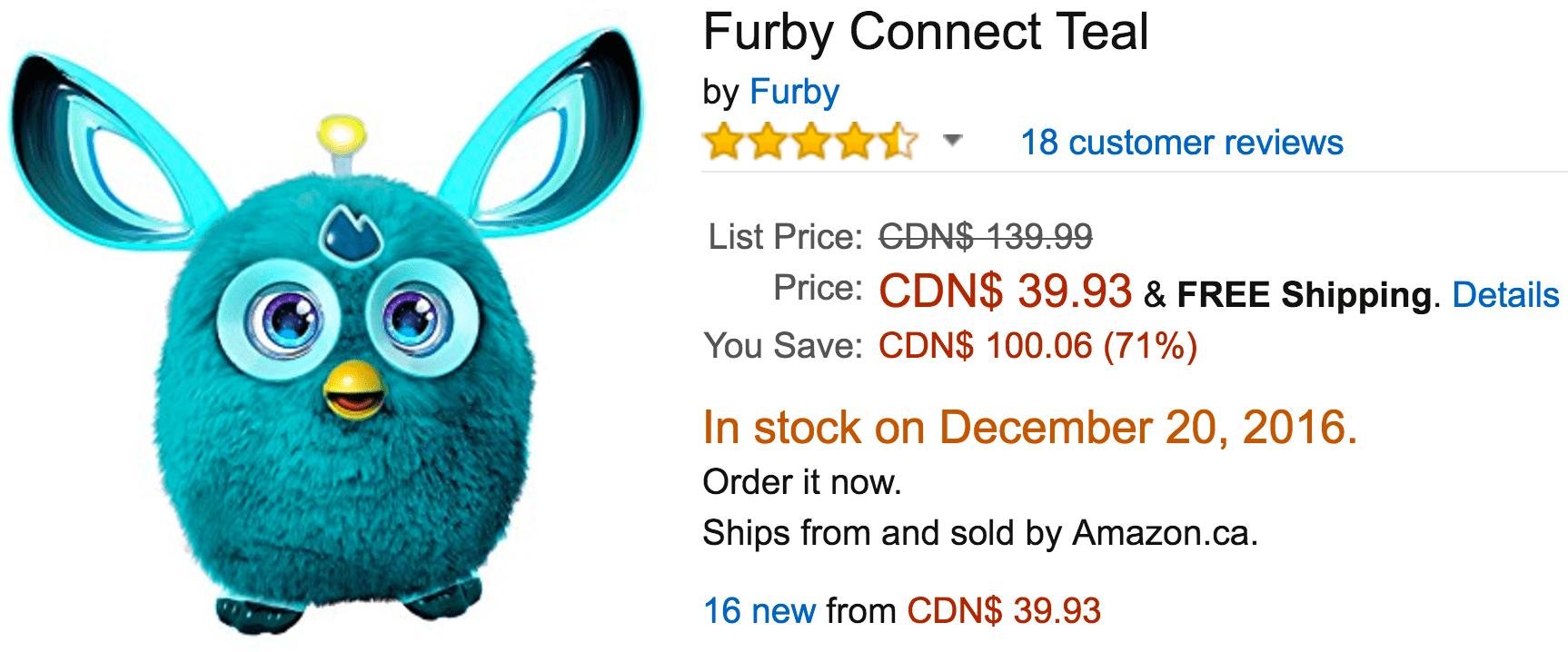 furby connect canada sale