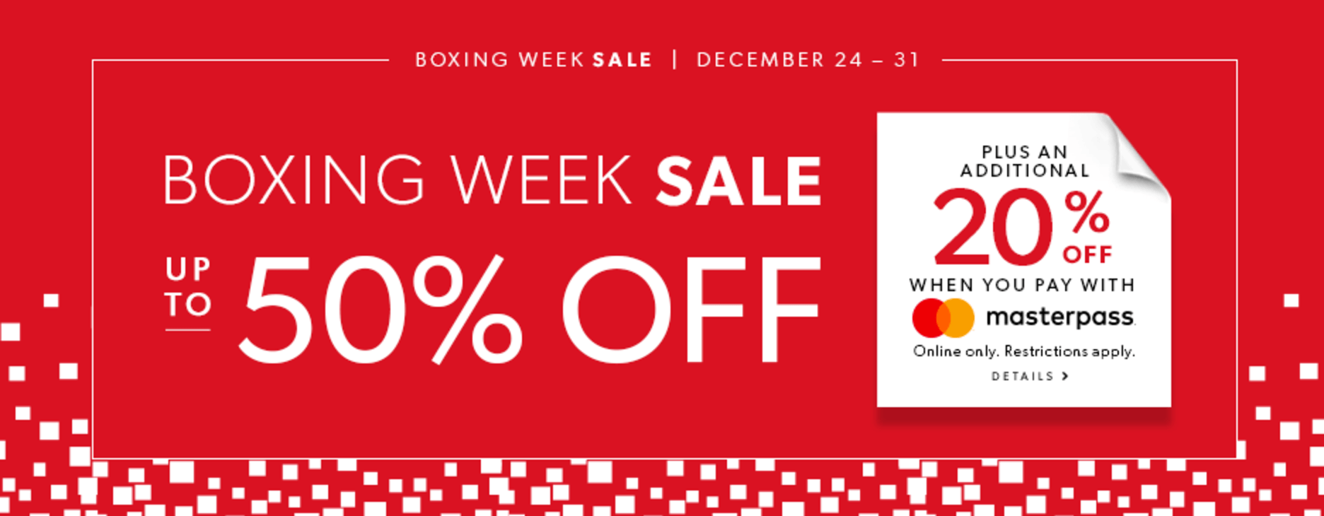 Indigo canada boxing week sale starts today save up to 50 for Home decorators coupon 50 off 200