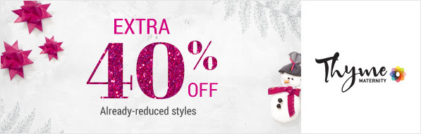 d5fede2677140 Thyme Maternity Canada has started their Boxing Day sales today! Now you  can Buy 1 Get 1 at 40% Off on Jeans as well as save 40% Off Already-Reduced  Items.