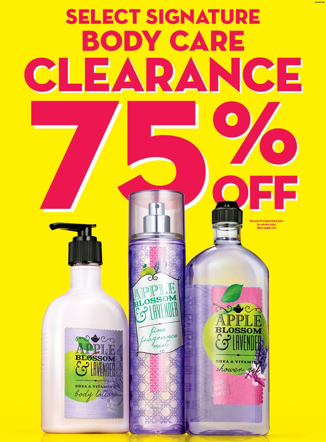 Bath Body Works Canada Semi Annual Clearance Sale Save 75 Off At