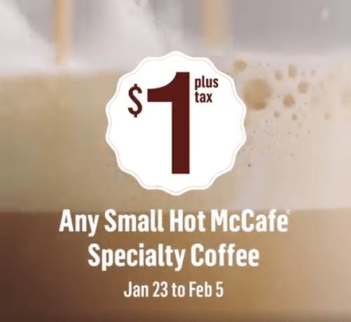 McDonald's Canada McCafe Specialty Coffee Deal at Smartcanucks.ca