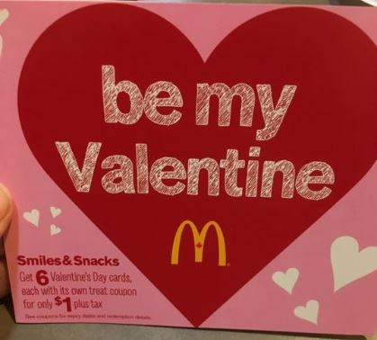 McDonalds Canada Valentines Coupon Booklets Available – Valentines Cards Canada