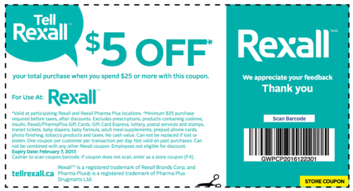 Rexall PharmaPlus Canada Coupon