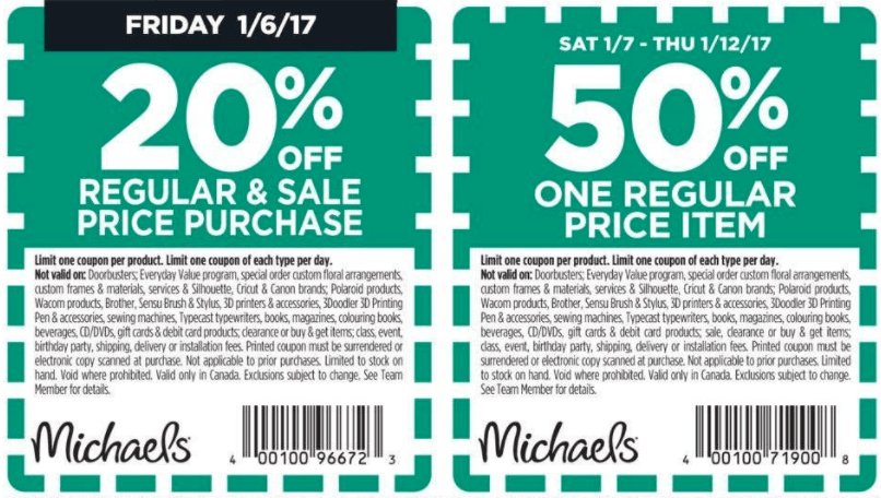 Michaels Canada Coupons Amp Flyers Deals Save 20 Off