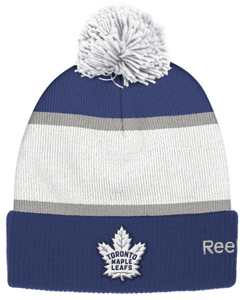 This Bestselling Toronto Maple Leafs Centennial Classic Cuffed Pom Knit Hat  commemorates the incredible Leafs win during the Centennial Winter Classic  of ... 1f0198fba56