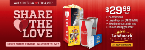 Landmark Cinema Valentine's Day Promortions