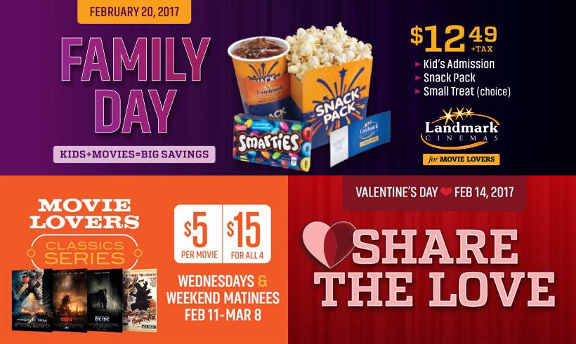 Landmark Cinemas Feb 2017 Promotions