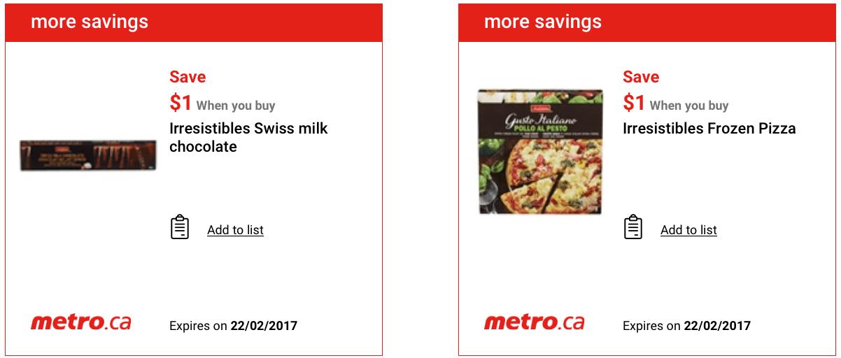 COUPONS METRO CANADA