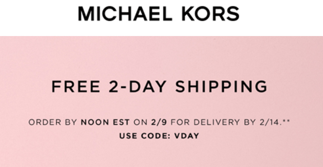 michael kors valentine s day promo coed offers free 2 day shipping sale deals canadian. Black Bedroom Furniture Sets. Home Design Ideas