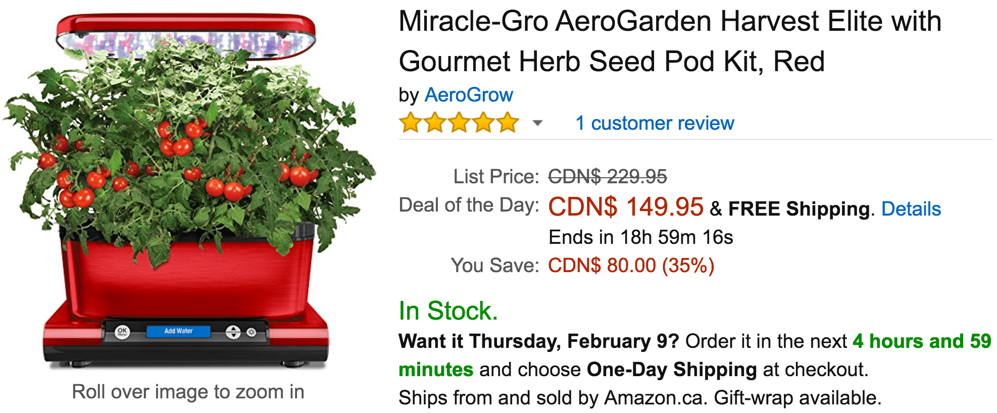 Amazon Canada Deals Of The Day: Save 35% on Miracle-Gro ...