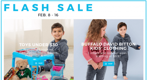 sears canada flash sale david buffalo and toys