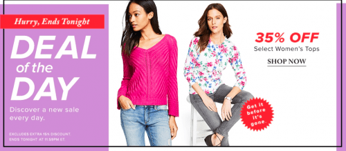 Hudson's Bay Canada Daily Deal