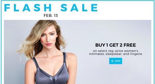24818bb593da Sears Canada Flash Sale: Buy 1, Get 2 FREE Sale on Women's Lingerie ...
