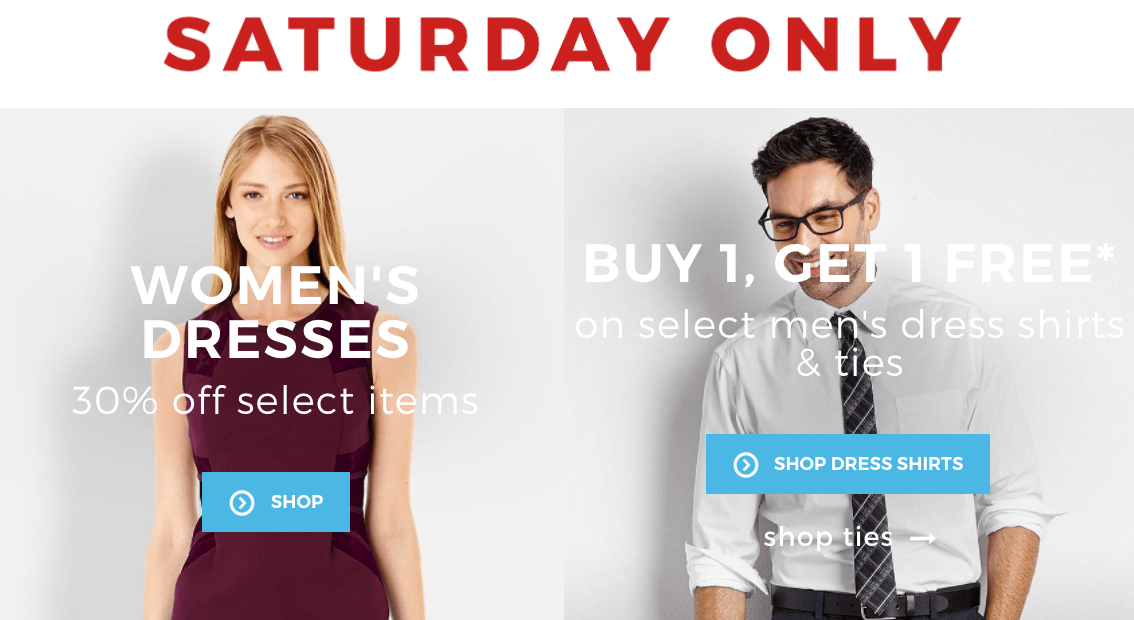 Sears canada flash sale buy 1 get 1 free on men s dress for Sears dress shirts sale